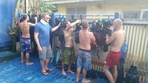 Adrian, Alex, Adrain 2, Glenn and Henrik working