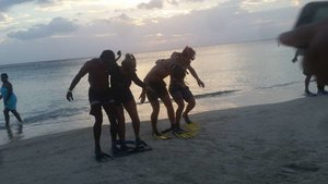 The divemasters competing for the S.O.L foundation fundraiser.