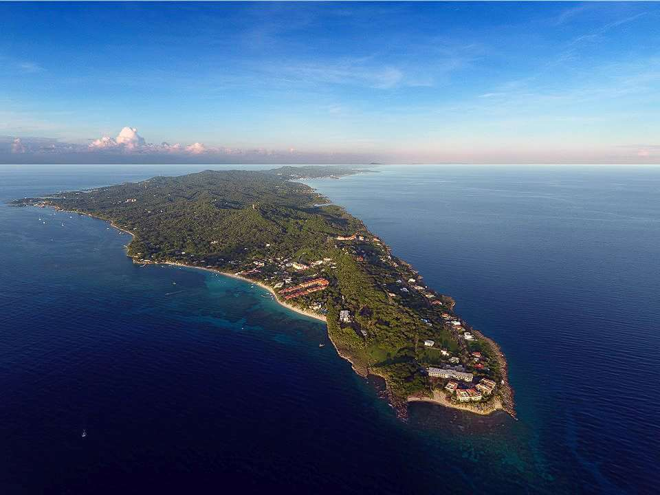 west bay and west end of the island Roatan Honduras in the caribbean