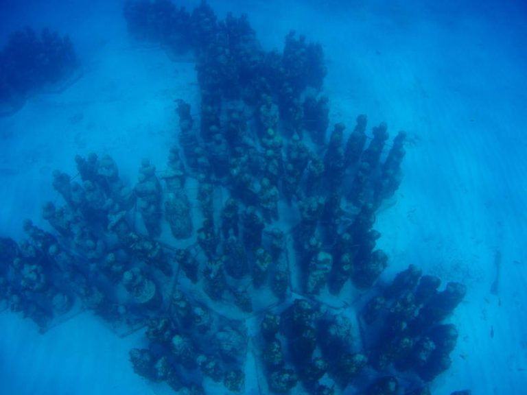 Snorkelling MUSA, Underwater Museum. Isla Mujeres