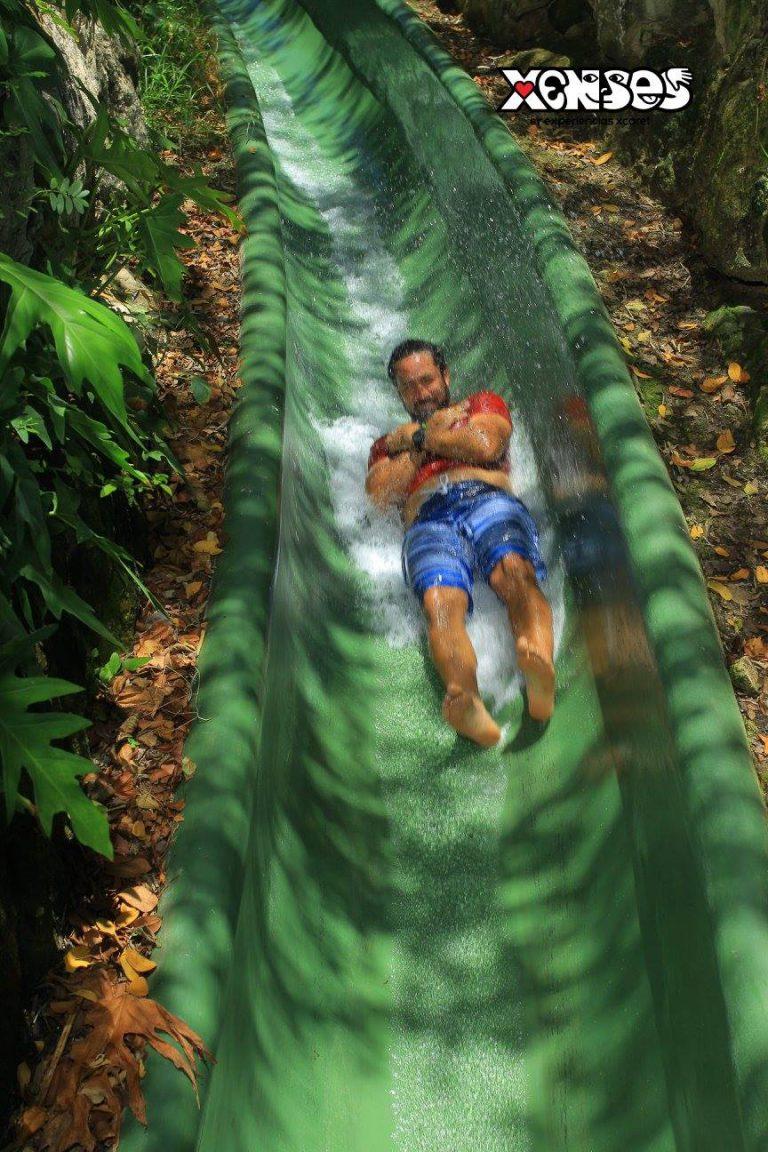 Xenses park, water slide