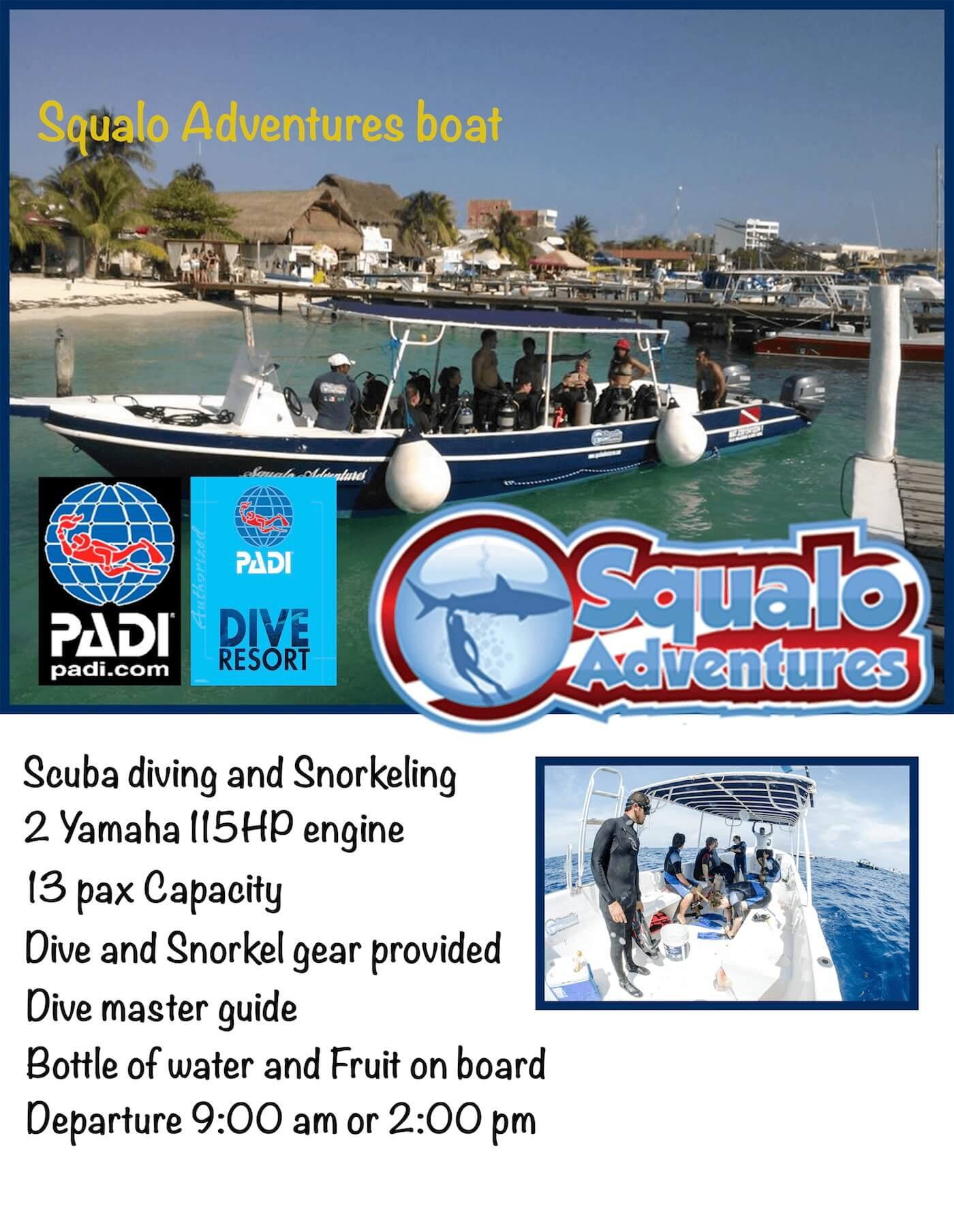 Squalo Adventures Isla Mujeres Dive Shop Boats-2